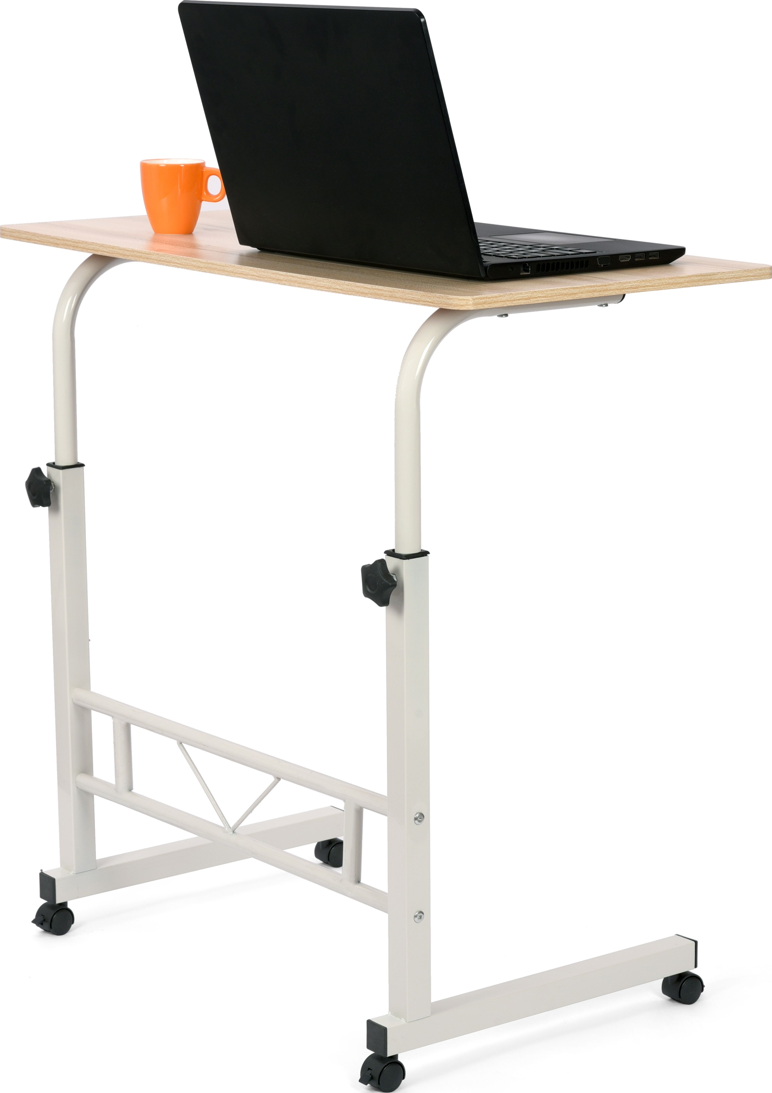 - Large Bedside Table Rolling Laptop Table Height Adjustable