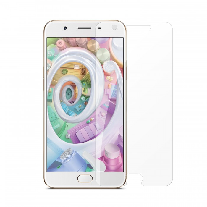 Oppo F1s Tempered Glass (HOKO) (Shatter Proof 0.3mm 2.5D Round Edge) Anti Oil Real Tempered Glass With Electroplating Coating