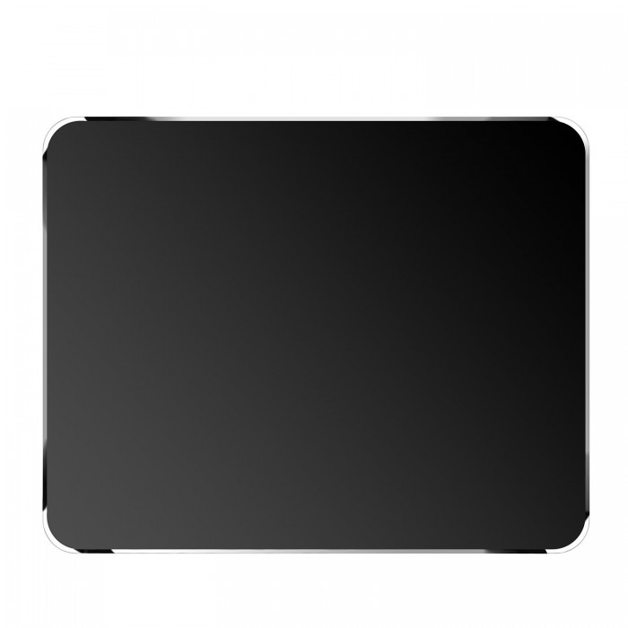 Cubix Lifetime Series Aluminum Gaming Mouse Pad / Mousepad With Diamond Polished Edge Ultra Smooth Long Life (Rectangular, 250x200x3mm) Black
