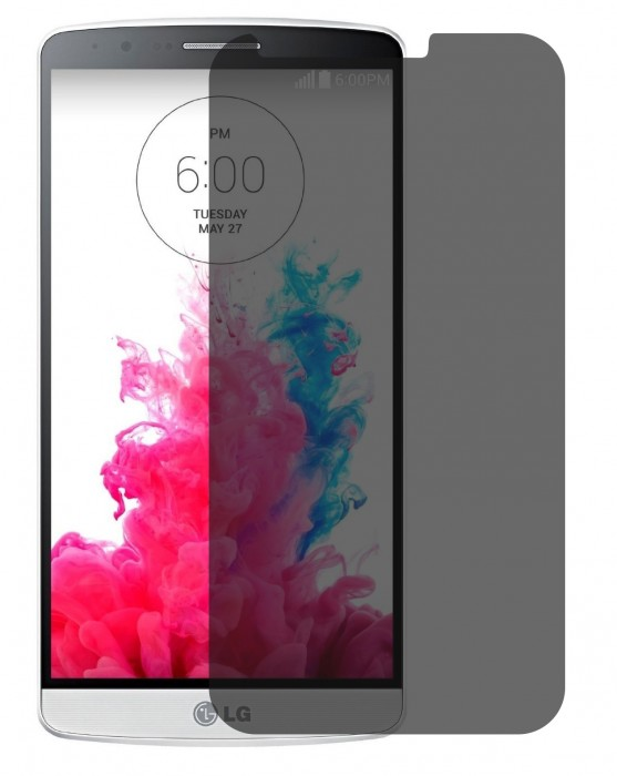 Hoko LG G3, LG G3 D855 Privacy Screen Protector Anti-Spy Anti-Fingerprint Bubble Free, Scratch Resistance