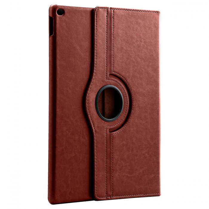 Apple iPad Pro 12.9 Case : HOKO 360 Degree Rotating Leather Smart Cover Case Stand for Apple iPad Pro 12.9 (With Wake/Sleep) Brown