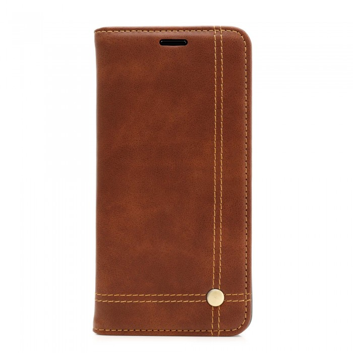 Nokia 6 Case, CUBIX Leather Case for Nokia 6 Classic Leather Wallet Cases Slim Folio Book Cover with Credit Card Slots, Cash Pocket, Stand Holder, Magnet Closure (Brown)