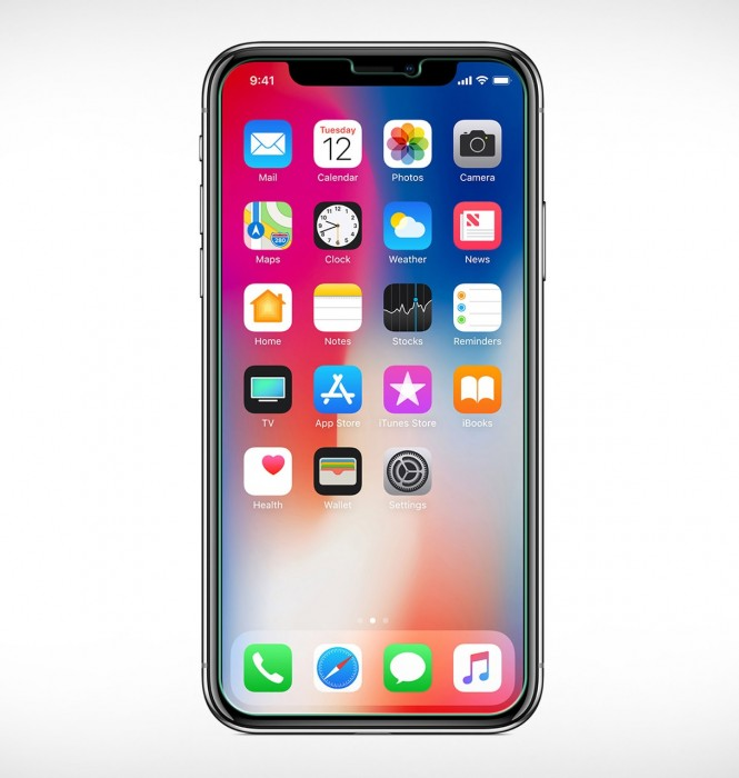 Apple iPhone X & iPhone XS (5.8 Inch) Tempered Glass (HOKO) (Shatter Proof 0.3mm 2.5D Round Edge) Anti Oil Real Tempered Glass With Electroplating Coating