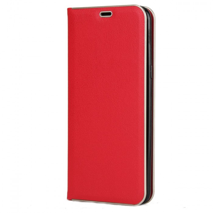 Samsung Galaxy S8 Luxury Leather Case, Cubix Magnetic Flip Cover for Samsung Galaxy S8 Wallet Cases Book Cover (Red)