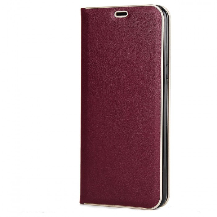 Samsung Galaxy S8 Luxury Leather Case, Cubix Magnetic Flip Cover for Samsung Galaxy S8 Wallet Cases Book Cover (Wine Red)