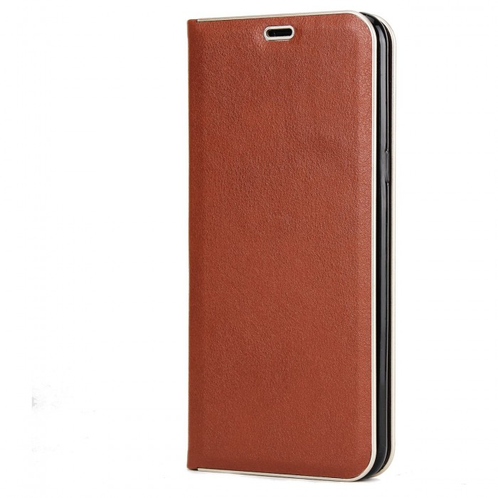 Samsung Galaxy S8 Luxury Leather Case, Cubix Magnetic Flip Cover for Samsung Galaxy S8 Wallet Cases Book Cover (Brown)