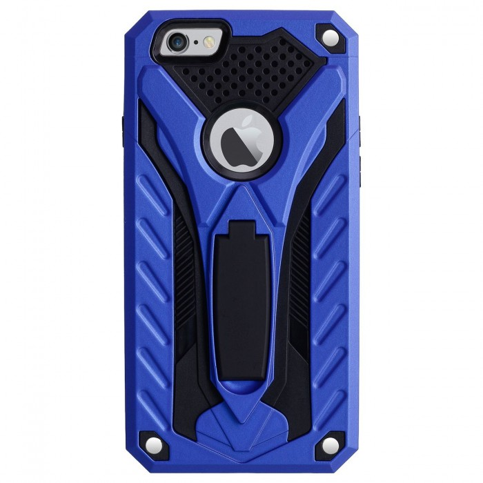 Cubix Case for Apple iPhone 6 & iPhone 6s (4.7 Inch) Robot 2017 Series Case Back Cover Hybrid Defender Bumper shock proof Case Armor Cover With 2 way Stand for Apple iPhone 6 & iPhone 6s (4.7 Inch) (Blue)