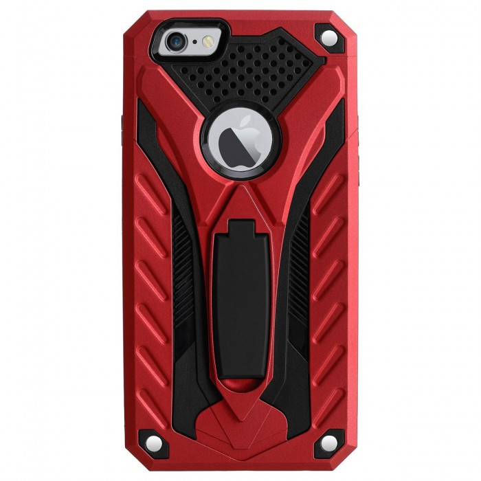 Cubix Case for Apple iPhone 6 & iPhone 6s (4.7 Inch) Robot 2017 Series Case Back Cover Hybrid Defender Bumper shock proof Case Armor Cover With 2 way Stand for Apple iPhone 6 & iPhone 6s (4.7 Inch) (Red)