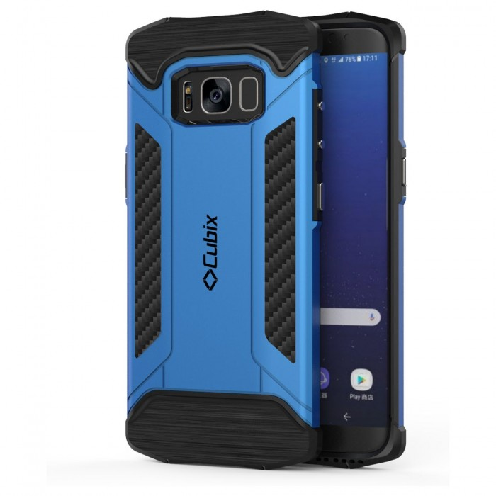 Cubix CFX Case For Samsung Galaxy S8 Hybrid Shockproof Case Mil-Spec Drop Tested Case for Samsung Galaxy S8 - Blue