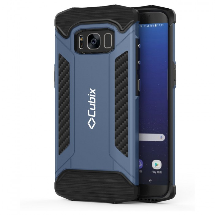 Cubix CFX Case For Samsung Galaxy S8 Hybrid Shockproof Case Mil-Spec Drop Tested Case for Samsung Galaxy S8 - Navy Blue
