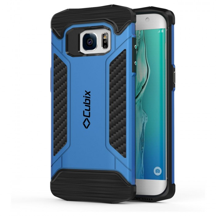 Cubix CFX Case For Samsung Galaxy S7 EDGE Hybrid Shockproof Case Mil-Spec Drop Tested Case for Samsung Galaxy S7 EDGE - Blue
