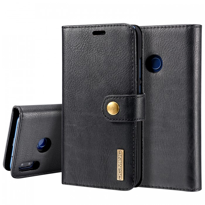 DG MING HUAWEI P20 Lite Case Flip Cover Leather Wallet Magnetic Detachable Back Cover for HUAWEI P20 Lite - Black