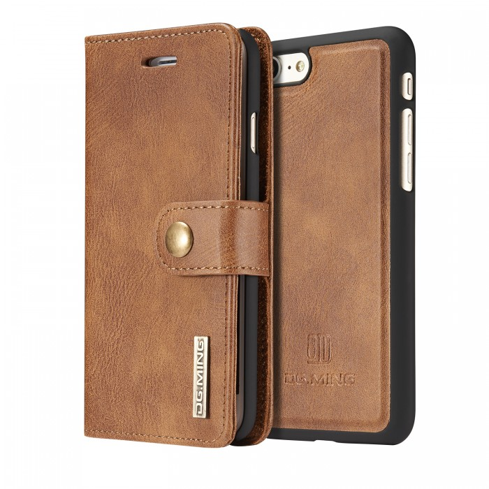 DG MING iPhone 7 iPhone 8 Case Flip Cover Leather Wallet Magnetic Detachable Back Cover for Apple iPhone 7 iPhone 8 - Brown