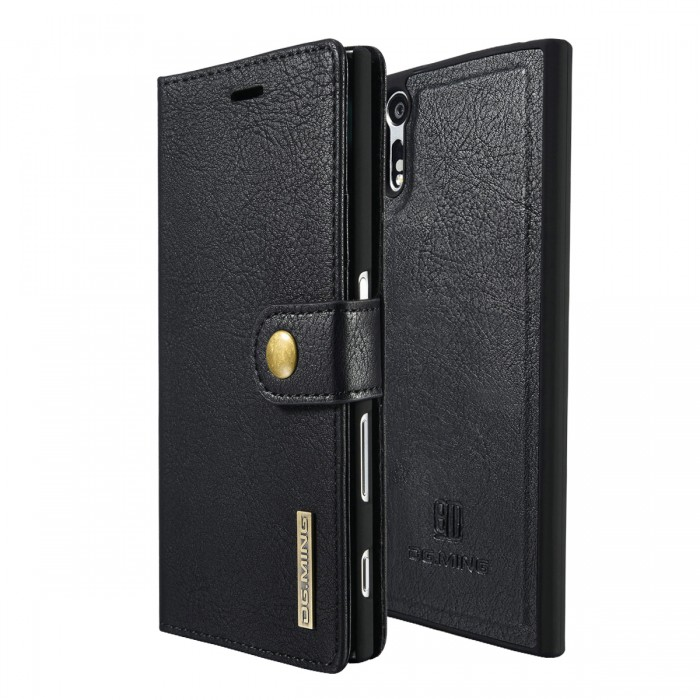 DG MING Sony Xperia XZ XZs Case Flip Cover Leather Wallet Magnetic Detachable Back Cover for Sony Xperia XZ Xperia XZs - Black