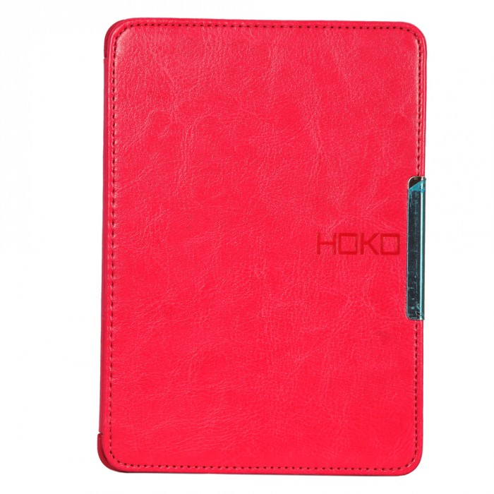 HOKO Pink Slim Leather Flip Case Cover with magnetic closure for Kindle Paperwhite 2017 (Auto wake and sleep)