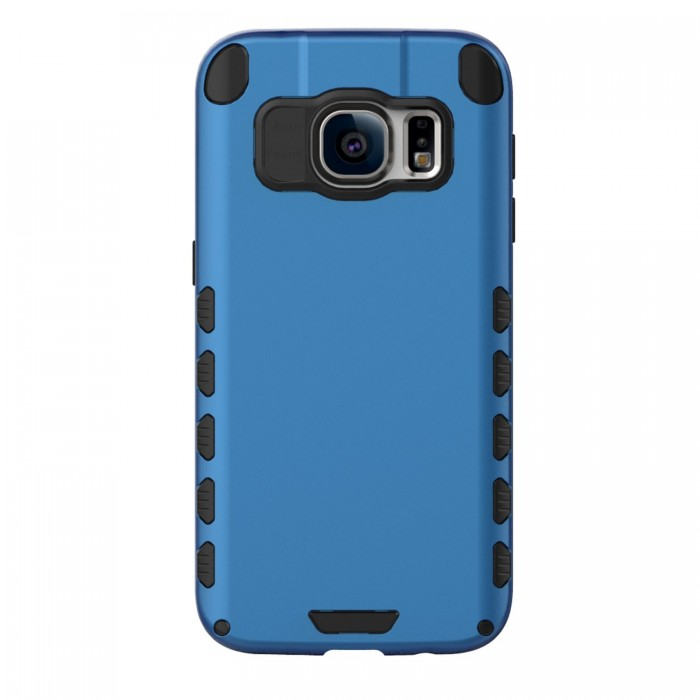 Galaxy S7 Case (Cubix) Armor Robot Cover [Anti Scratch] Slim-Fit Two Layer Defender Bumper Back cover For Samsung Galaxy S7 (Blue)
