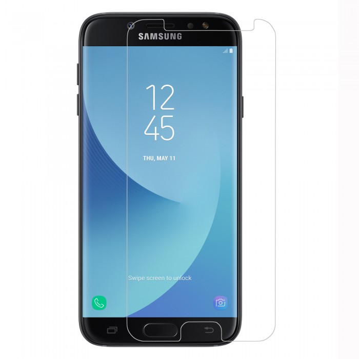 Samsung Galaxy J7 Pro Tempered Glass (HOKO) (Shatter Proof 0.3mm 2.5D Round Edge) Anti Oil Real Tempered Glass With Electroplating Coating