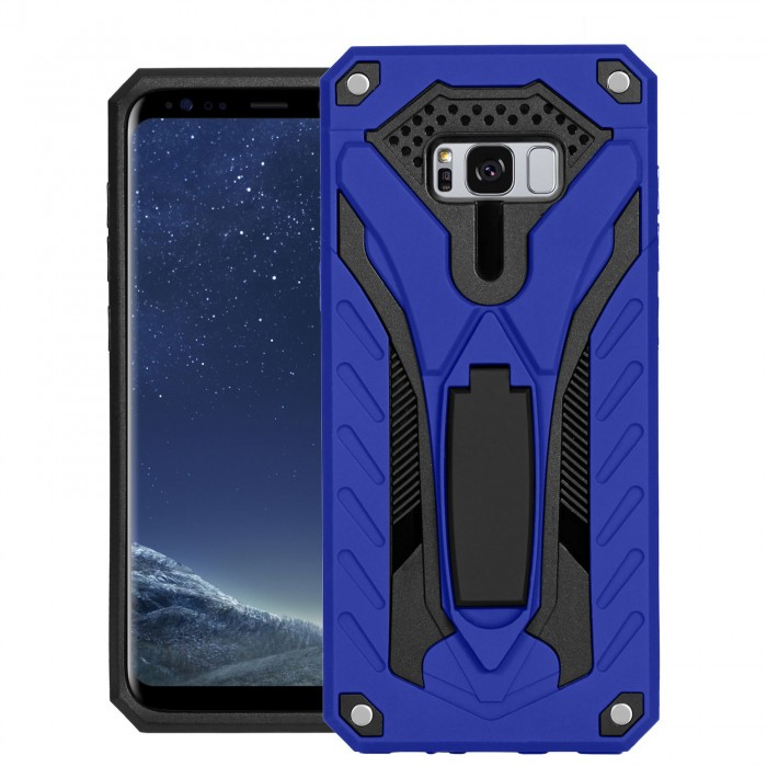Cubix Case for Samsung Galaxy S8+, Galaxy S8 Plus Robot 2017 Series Case Back Cover Hybrid Defender Bumper shock proof Case Armor Cover With 2 way Stand for Samsung Galaxy S8+, Galaxy S8 Plus (Blue)