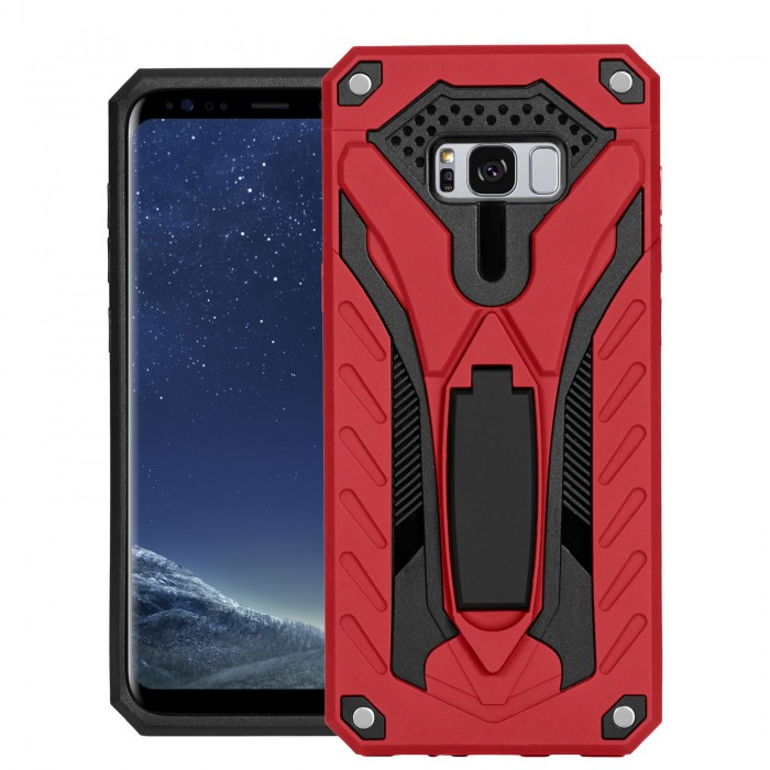 Cubix Case for Samsung Galaxy S8+, Galaxy S8 Plus Robot 2017 Series Case Back Cover Hybrid Defender Bumper shock proof Case Armor Cover With 2 way Stand for Samsung Galaxy S8+, Galaxy S8 Plus (Red)