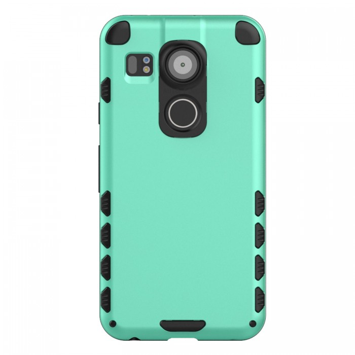 Nexus 5X Case (Cubix) Armor Robot Cover [Anti Scratch] Slim-Fit Two Layer Defender Bumper Back cover For Google Nexus 5X, LG Nexus 5X (Sea Green)