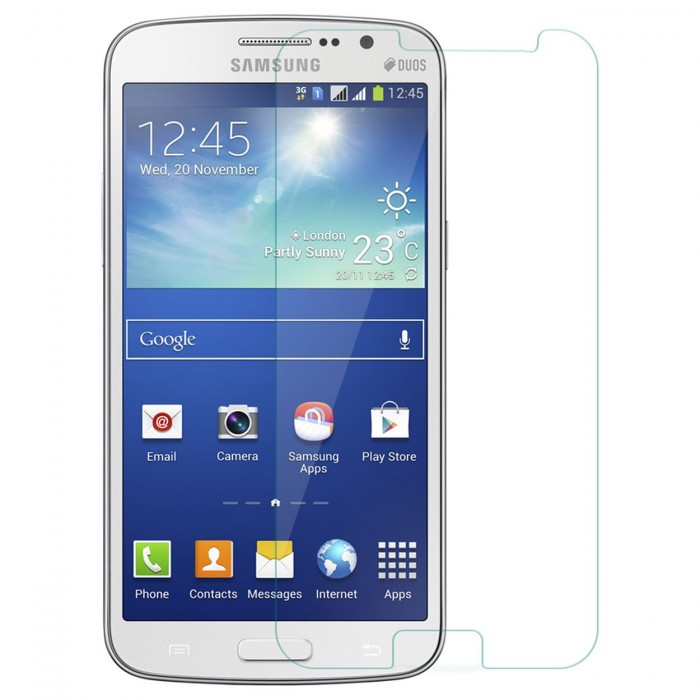 Galaxy Grand 2 Tempered Glass Flexible Glass (HOKO) (Shatter Proof 0.3mm 2.5D Round Edge) Anti Oil Real Tempered Glass With Electroplating Coating for Samsung Galaxy Grand 2, Grand 2 G7102, Grand 2 G7106