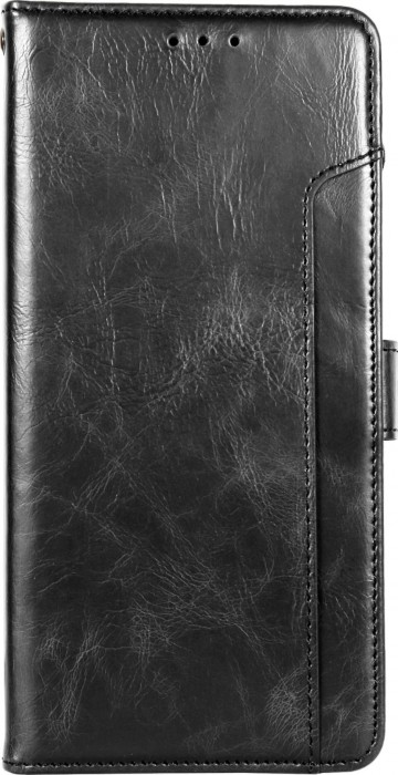 Cubix Wallet Case PU Leather Flip Folio Kickstand Wallet Case with Card Slots For Samsung Galaxy Note 9 (Black)