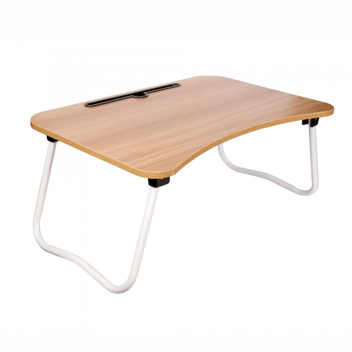 Cubix Laptop Desk Bed Table Notebook Table Bed Table Study Table For Sofa Bed with Foldable Metal Legs and Engineered wood Top Board with Mobile Dock Stand 60X28X40 CM