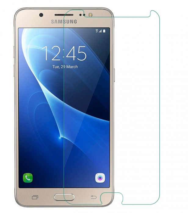 Samsung Galaxy J5 2016 Tempered Glass (HOKO) (Shatter Proof 0.3mm 2.5D Round Edge) Anti Oil Real Tempered Glass With Electroplating Coating