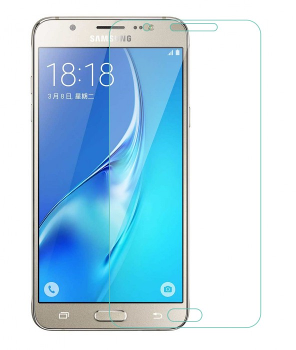 Samsung Galaxy On8 Tempered Glass (HOKO) (Shatter Proof 0.3mm 2.5D Round Edge) Anti Oil Real Tempered Glass With Electroplating Coating