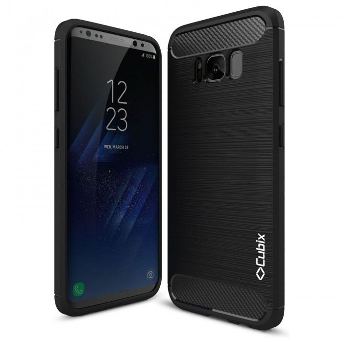 Cubix Liquid Armor Case for Samsung Galaxy S8 (Black)