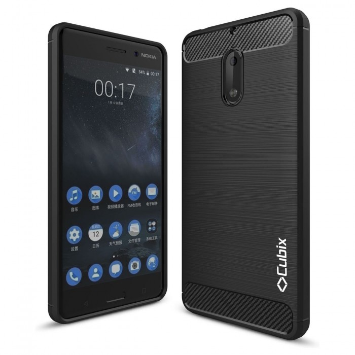 Cubix Liquid Armor Case for Nokia 6 (Black)