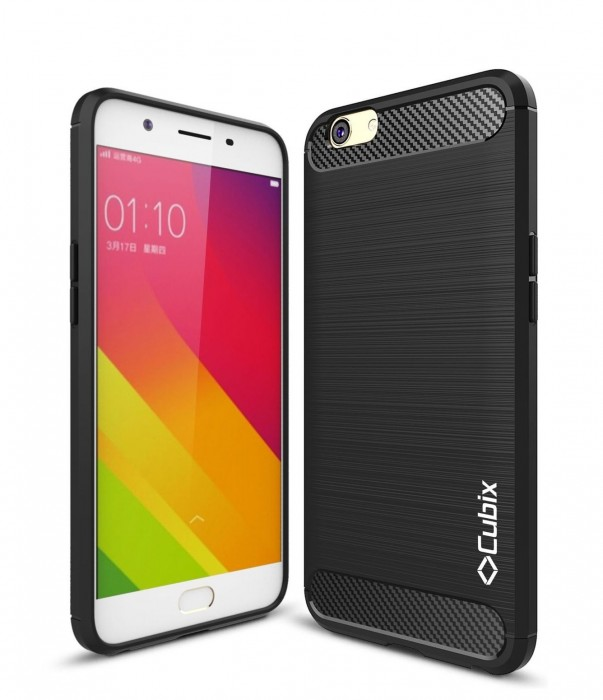 Cubix Liquid Armor Case for Oppo F1s (Black)