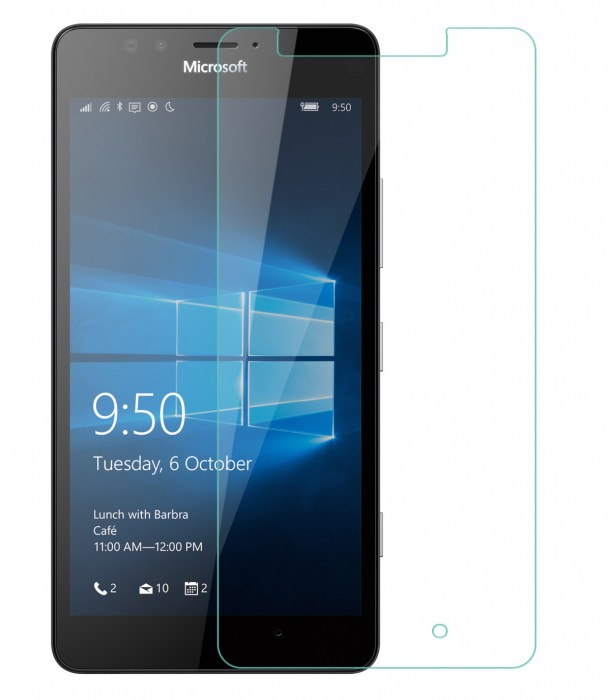 Lumia 950 Tempered Glass Flexible Glass (HOKO) (Shatter Proof 0.3mm 2.5D Round Edge) Anti Oil Real Tempered Glass With Electroplating Coating for Microsoft Lumia 950, Lumia 950 Dual SIM