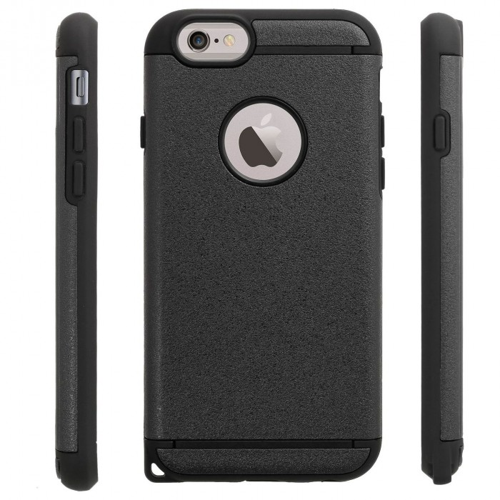 Cubix Ballistic [Tough Jacket Mars Series] Heavy Duty Protection [Rugged Grip] Case for Apple iPhone 6 & iPhone 6s (4.7 Inch) (Black)
