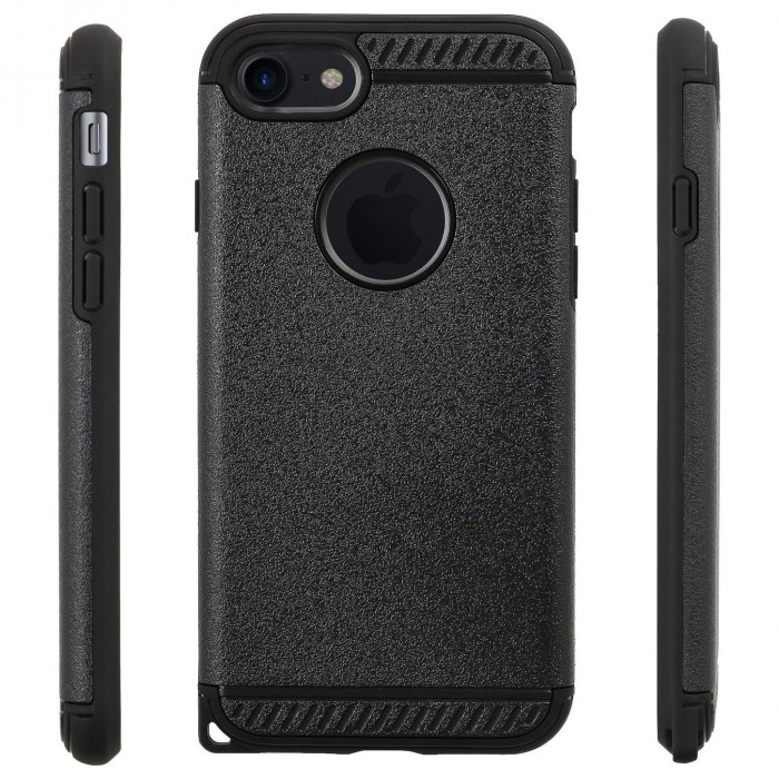 Cubix Ballistic [Tough Jacket Mars Series] Heavy Duty Protection [Rugged Grip] Case for Apple iPhone 7, Apple iPhone 8 (Black)