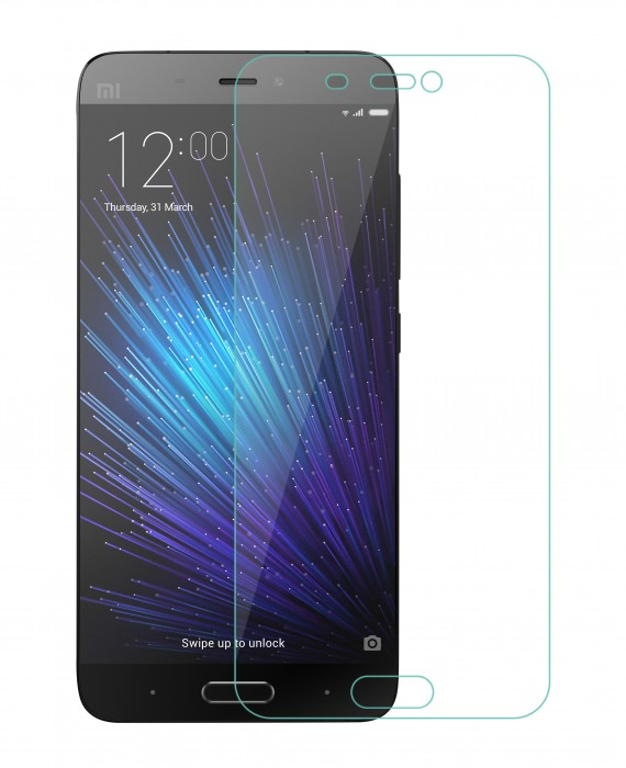 Xiaomi Mi 5, Mi5 Tempered Glass Flexible Glass (HOKO) (Shatter Proof 0.3mm 2.5D Round Edge) Anti Oil Real Tempered Glass With Electroplating Coating for Xiaomi Mi 5, Mi5