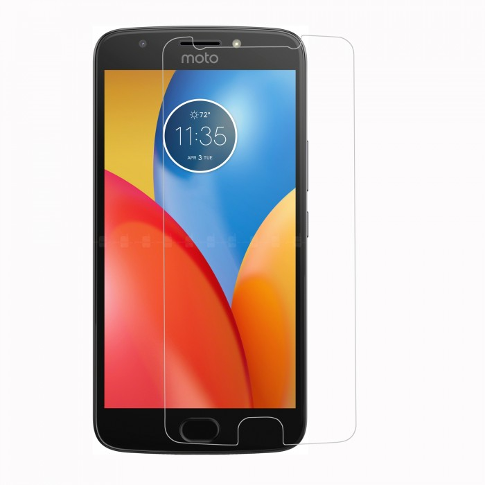 Moto E4 Plus Tempered Glass (HOKO) (Shatter Proof 0.3mm 2.5D Round Edge) Anti Oil Real Tempered Glass With Electroplating Coating