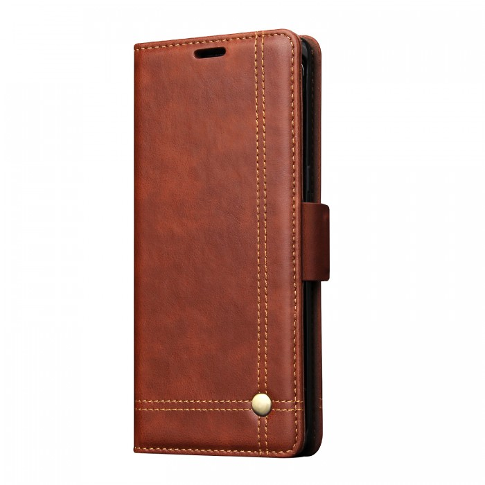 Samsung Galaxy Note 8 Case, CUBIX Leather Case for Samsung Galaxy Note 8 Classic Leather Wallet Cases Slim Folio Book Cover with Credit Card Slots, Cash Pocket, Stand Holder, Magnet Closure (Brown)