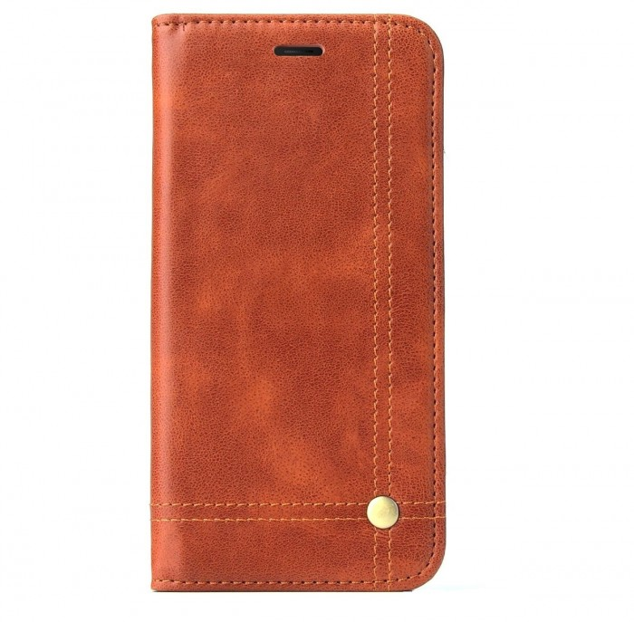 ONEPLUS 5, One Plus 5 Case CUBIX Leather Case for ONEPLUS 5, One Plus 5 Classic Leather Wallet Cases Slim Folio Book Cover with Credit Card Slots Cash Pocket Stand Holder Magnet Closure (Brown)