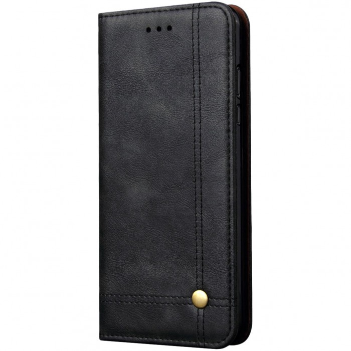 CUBIX Leather Case for HUAWEI P20 Pro Classic Leather Wallet Cases Slim Folio Book Cover with Credit Card Slots, Cash Pocket, Stand Holder, Magnet Closure (Black)