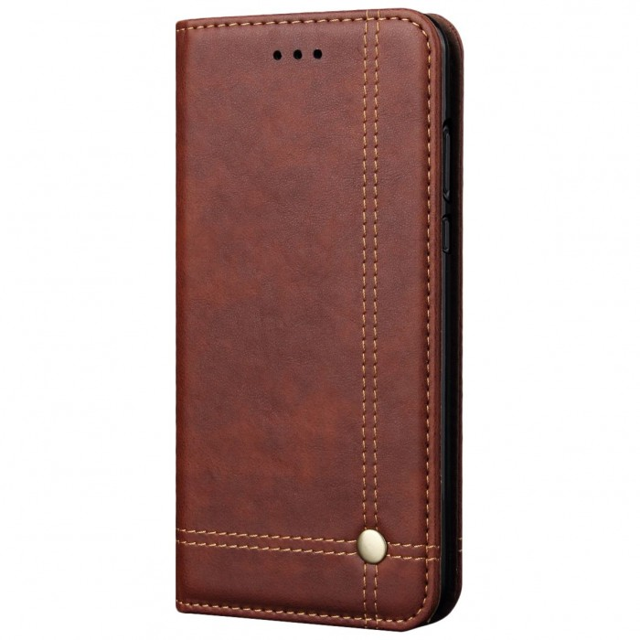 CUBIX Leather Case for HUAWEI P20 Pro Classic Leather Wallet Cases Slim Folio Book Cover with Credit Card Slots, Cash Pocket, Stand Holder, Magnet Closure (Brown)