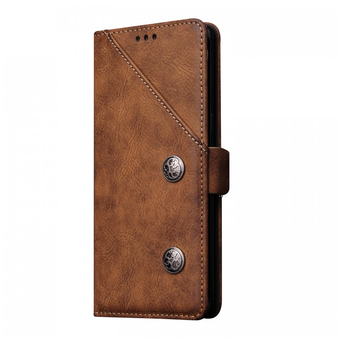 Samsung Galaxy Note 8 Case, Cubix Magnetic Flip Cover for Samsung Galaxy Note 8 Royal Leather Wallet Cases Slim Book Cover with Credit Card Slots, Cash Pocket (Brown)