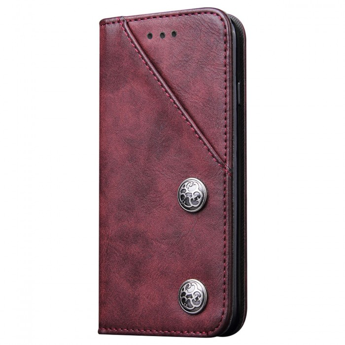 Apple iPhone 6 Plus, Apple iPhone 6s Plus Case Cubix Magnetic Flip Cover for Apple iPhone 6 Plus, Apple iPhone 6s Plus Royal Leather Wallet Cases Slim Book Cover with Credit Card Slots Cash Pocket (Red)