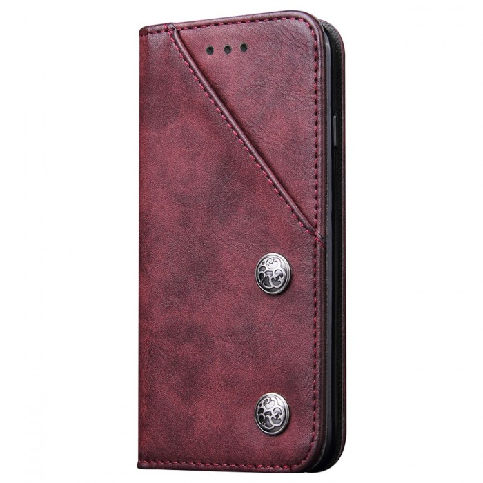 Apple iPhone 6, Apple iPhone 6s Case Cubix Magnetic Flip Cover for Apple iPhone 6, Apple iPhone 6s Royal Leather Wallet Cases Slim Book Cover with Credit Card Slots Cash Pocket (Red)