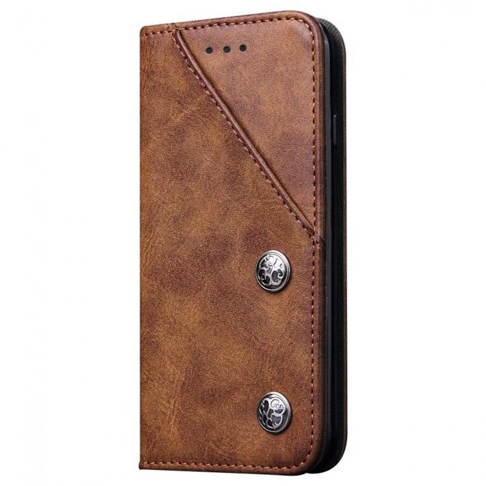 Apple iPhone 6, Apple iPhone 6s Case Cubix Magnetic Flip Cover for Apple iPhone 6, Apple iPhone 6s Royal Leather Wallet Cases Slim Book Cover with Credit Card Slots Cash Pocket (Brown)