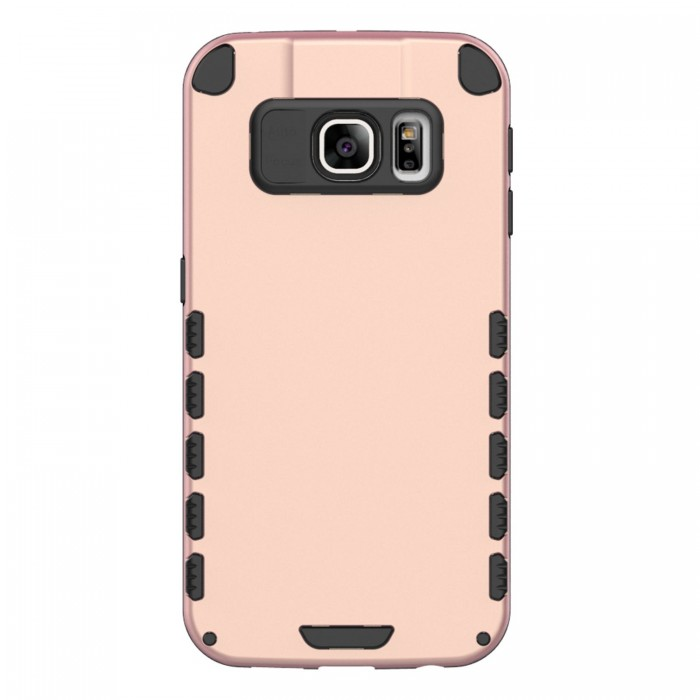 S6 Edge+ Case (Cubix) Armor Robot Cover [Anti Scratch] Slim-Fit Two Layer Defender Bumper Back cover For Samsung Galaxy S6 EDGE+, Galaxy S6 Edge Plus (Rose Gold)