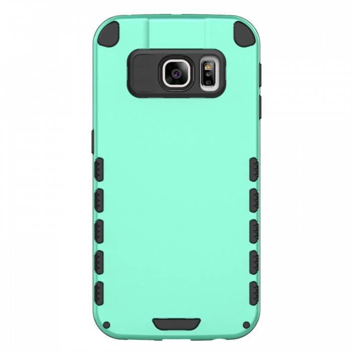 S6 Edge+ Case (Cubix) Armor Robot Cover [Anti Scratch] Slim-Fit Two Layer Defender Bumper Back cover For Samsung Galaxy S6 EDGE+, Galaxy S6 Edge Plus (Sea Green)