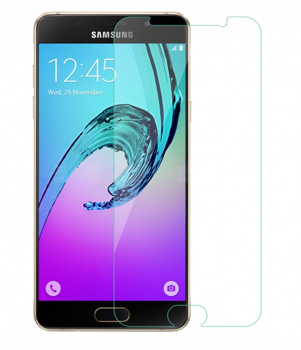 Samsung Galaxy A5 2016, Galaxy A5 A510 Tempered Glass (HOKO) (Shatter Proof 0.3mm 2.5D Round Edge) Anti Oil Real Tempered Glass With Electroplating Coating