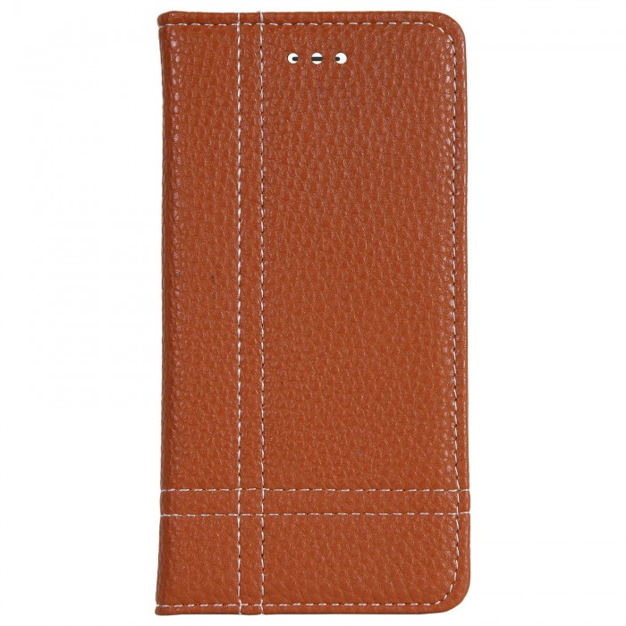 Cubix Wallet Case PU Leather Flip Folio Kickstand - [Slim Fit] Vintage Flip Case Cover with Stand Function For Apple iPhone 7, Apple iPhone 8 (Brown)