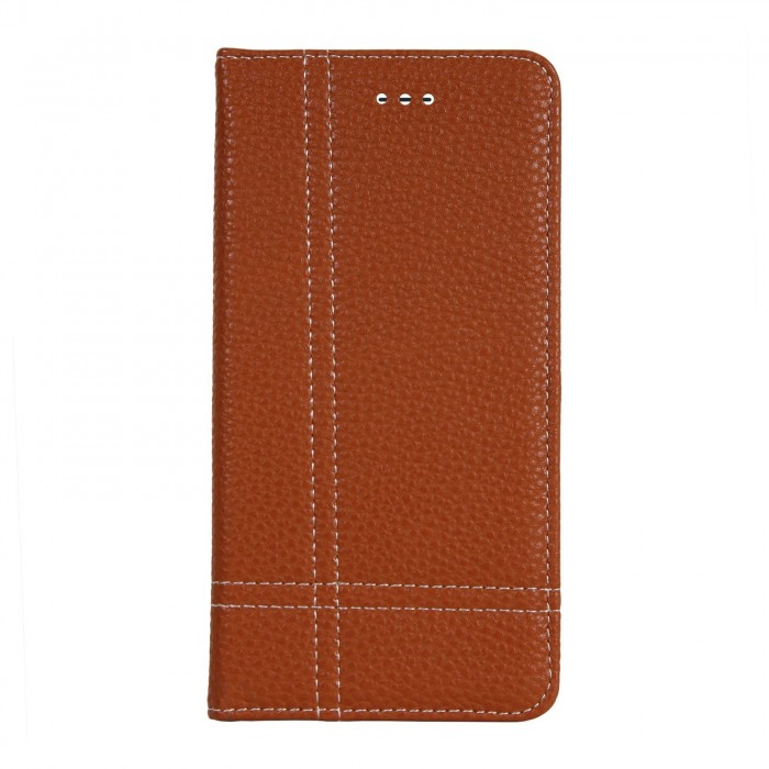 Cubix Wallet Case PU Leather Flip Folio Kickstand - [Slim Fit] Vintage Flip Case Cover with Stand Function For Apple iPhone 7 Plus, Apple iPhone 8 Plus (Brown)